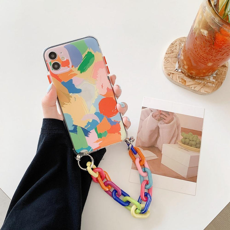 Abstract Art Chain Case - Jelly Cases