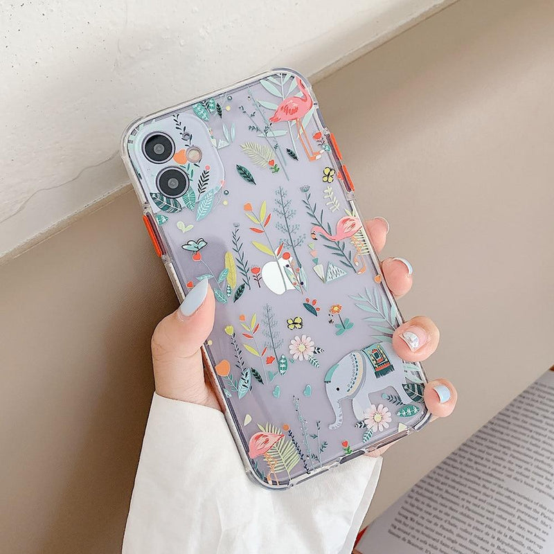 Animals And Flowers Case - Jelly Cases