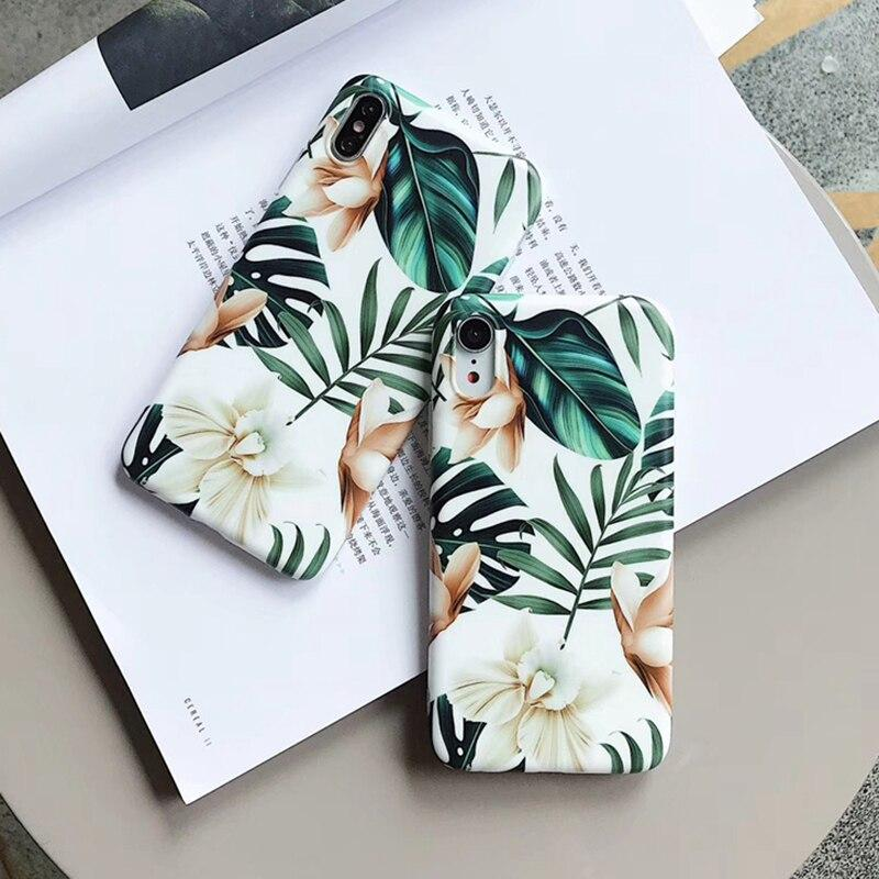 Art Flowers Leaf Case - Jelly Cases