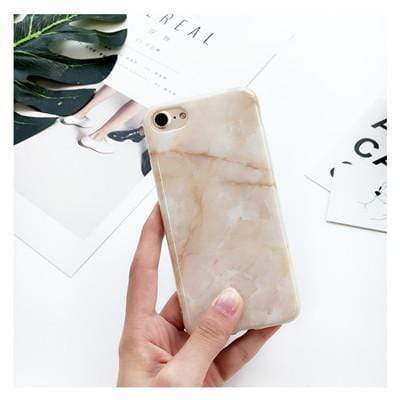 Beige Pastel Marble - Jelly Cases