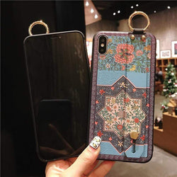 Blue Flower Wrist Strap - Jelly Cases