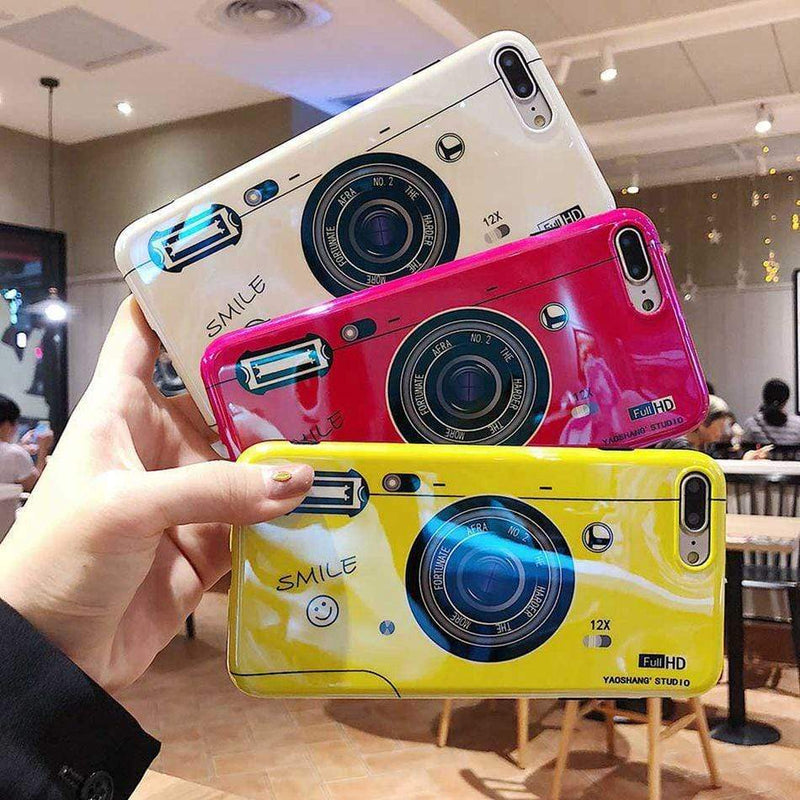 Bright Camera Patterned Case - Jelly Cases