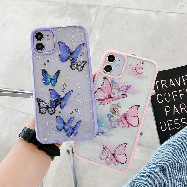 Butterfly Glitter Case - Jelly Cases