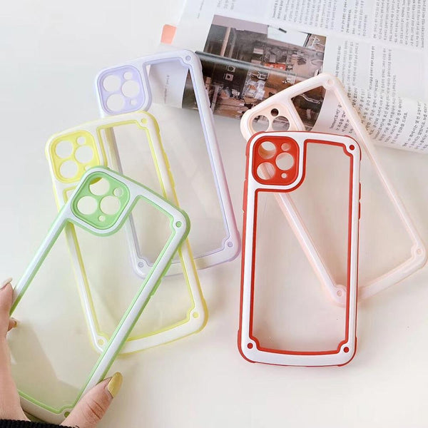 Candy Color Armor Case + Camera Protection - Jelly Cases