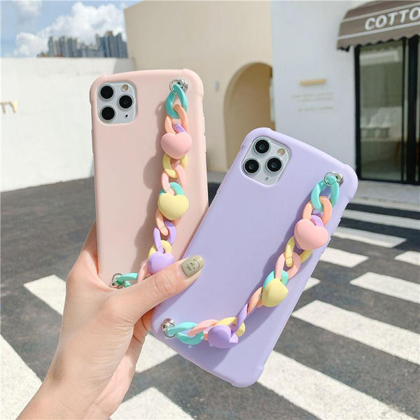 Candy Color Chain Case - Jelly Cases