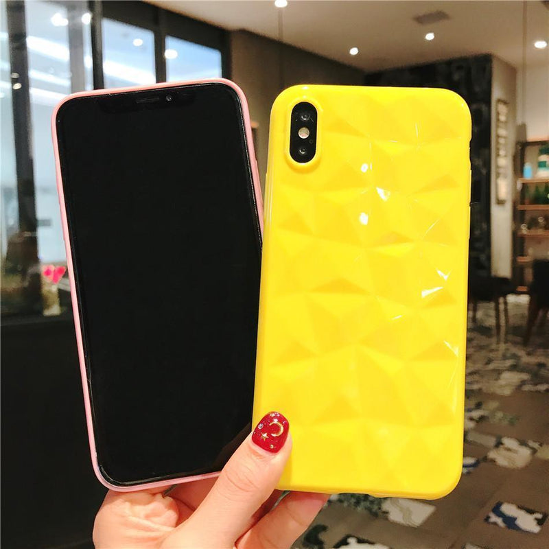 Candy Color Diamond Case - Jelly Cases