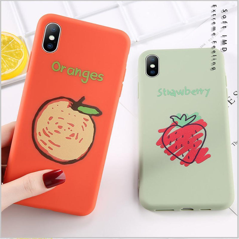 Candy Color Fruit Case - Jelly Cases