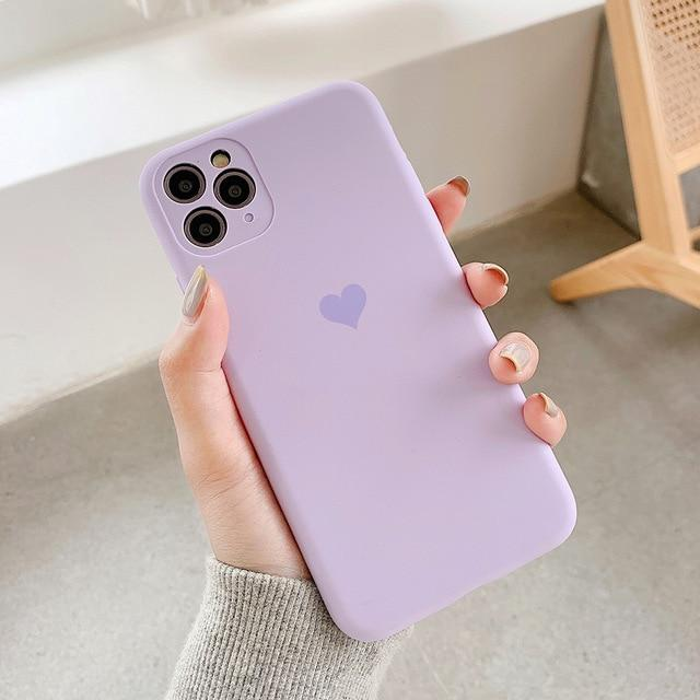 Candy Color Love Heart Case - Jelly Cases