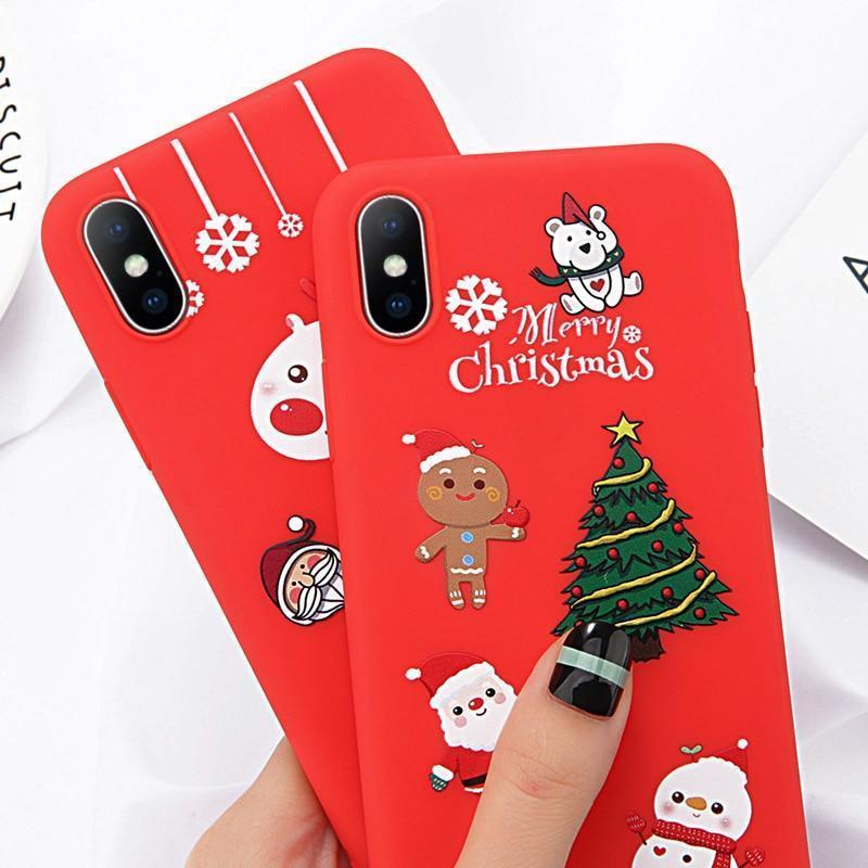 Cartoon Christmas Case - Jelly Cases