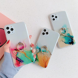 Clear Colorful Case + Ring Holder - Jelly Cases