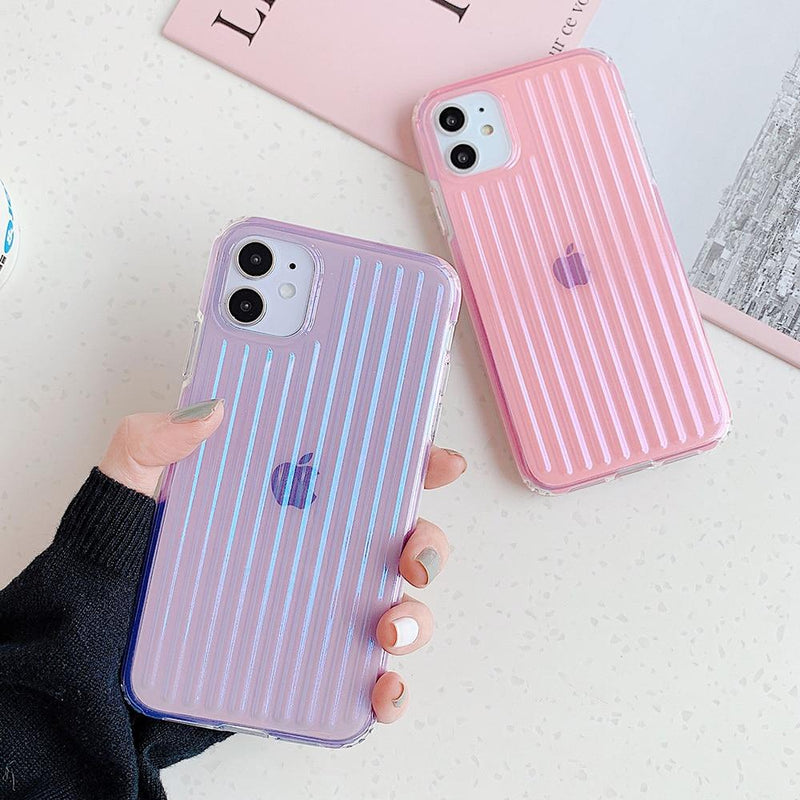 Clear Stripes Shockproof Case - Jelly Cases
