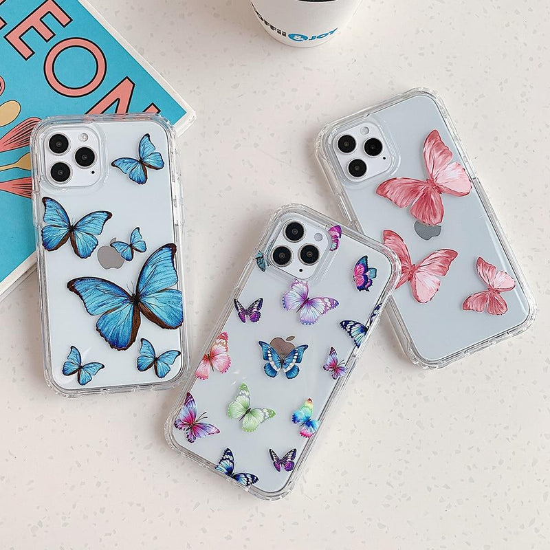 Colorful Butterfly Case - Jelly Cases