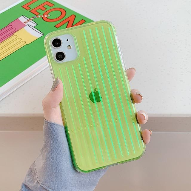Colorful Clear Stripes Case - Jelly Cases