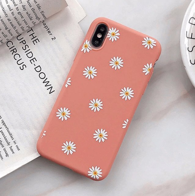 Colorful Daisy Flower Case - Jelly Cases