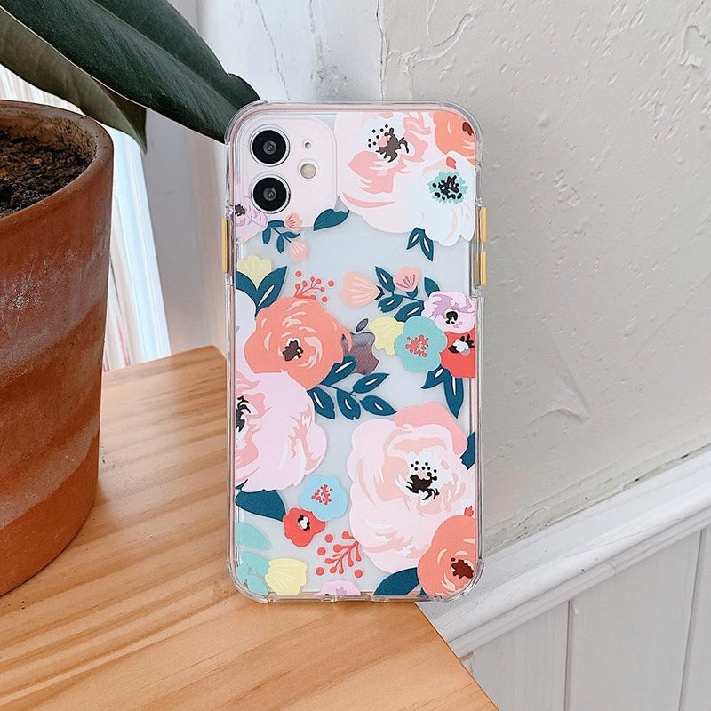 Colorful Floral Case - Jelly Cases
