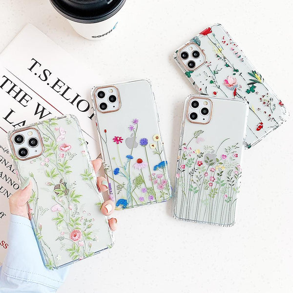 Colorful Flowers Case - Jelly Cases