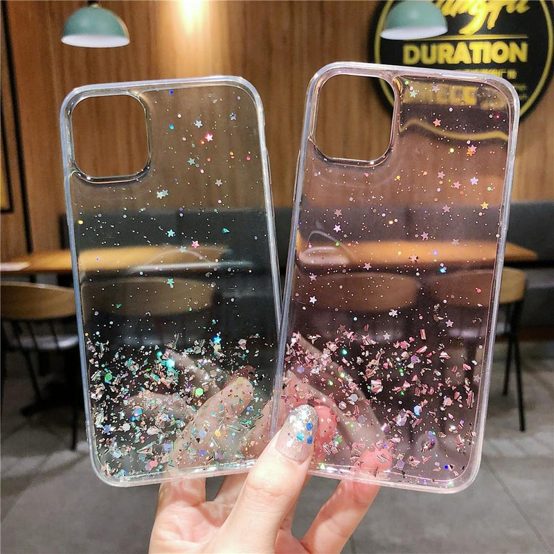 Colorful Glitter Plain Case - Jelly Cases