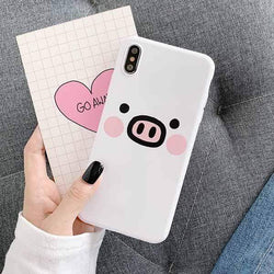 Cute Cartoon Pig Face Case - Jelly Cases