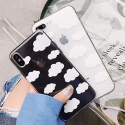 Cute Clouds Transparent Case - Jelly Cases