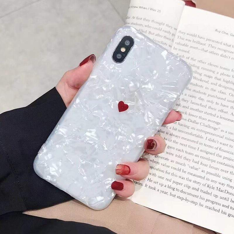 Cute Heart Shell Case - Jelly Cases
