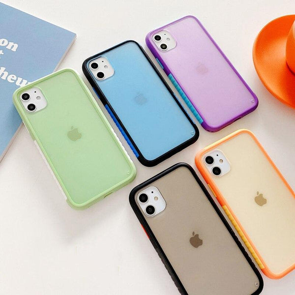 Cute Splicing Candy Color Case - Jelly Cases