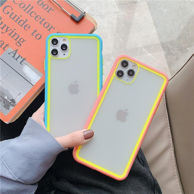 Clear Splicing Candy Color Case - Jelly Cases