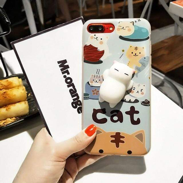 Cute White Cat - Jelly Cases