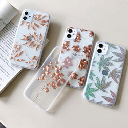 Electroplated Leaf Case - Jelly Cases
