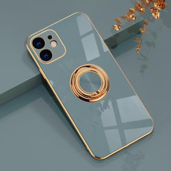 Electroplated Solid Case + Ring Holder - Jelly Cases
