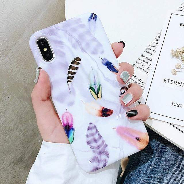 Feather Marble Case - Jelly Cases