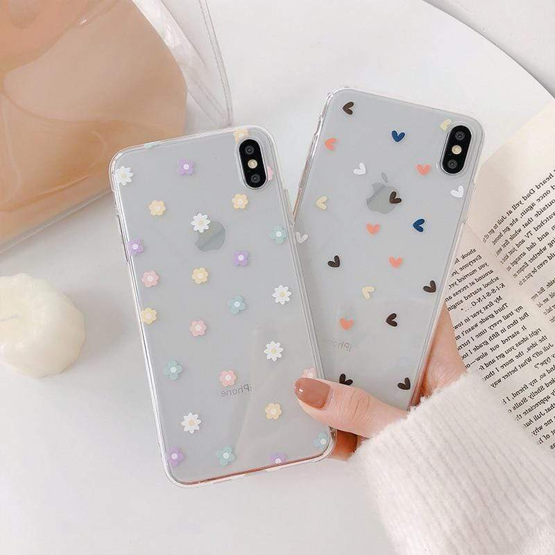 Floral Love Transparent Case - Jelly Cases