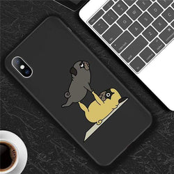Funny Yoga Dog Case - Jelly Cases