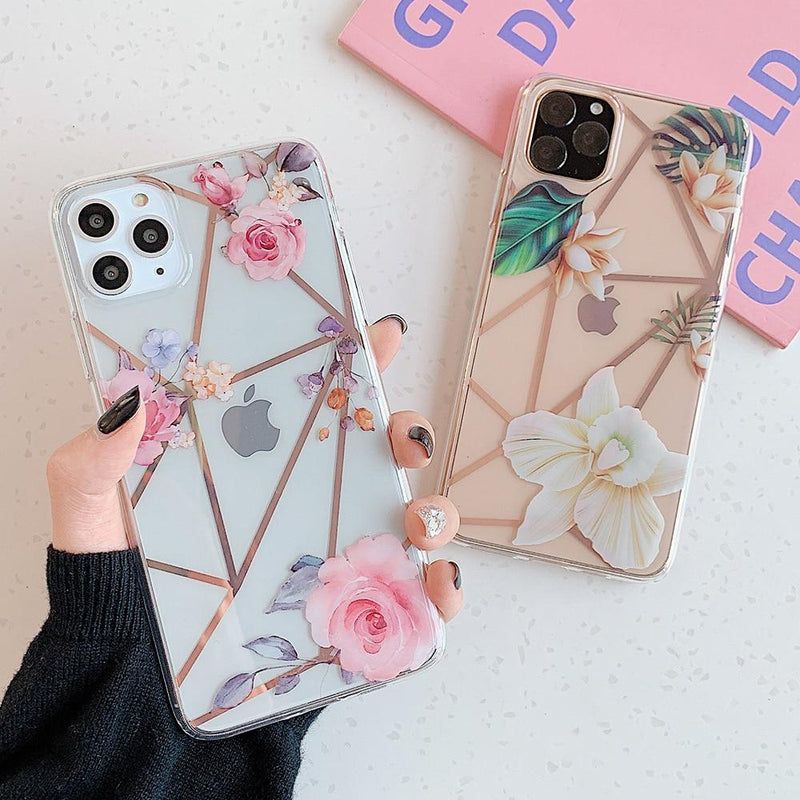 Geometric Flower  Case - Jelly Cases