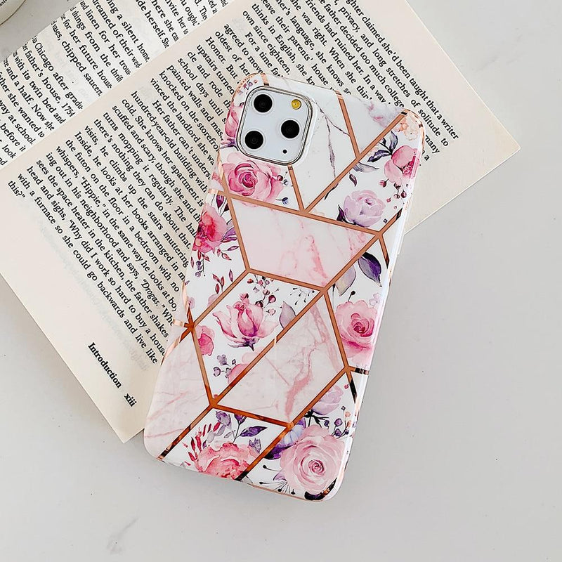 Geometric Pink Flower Case - Jelly Cases