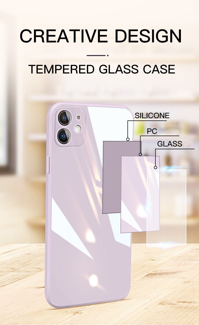 Glass Square Case - Jelly Cases