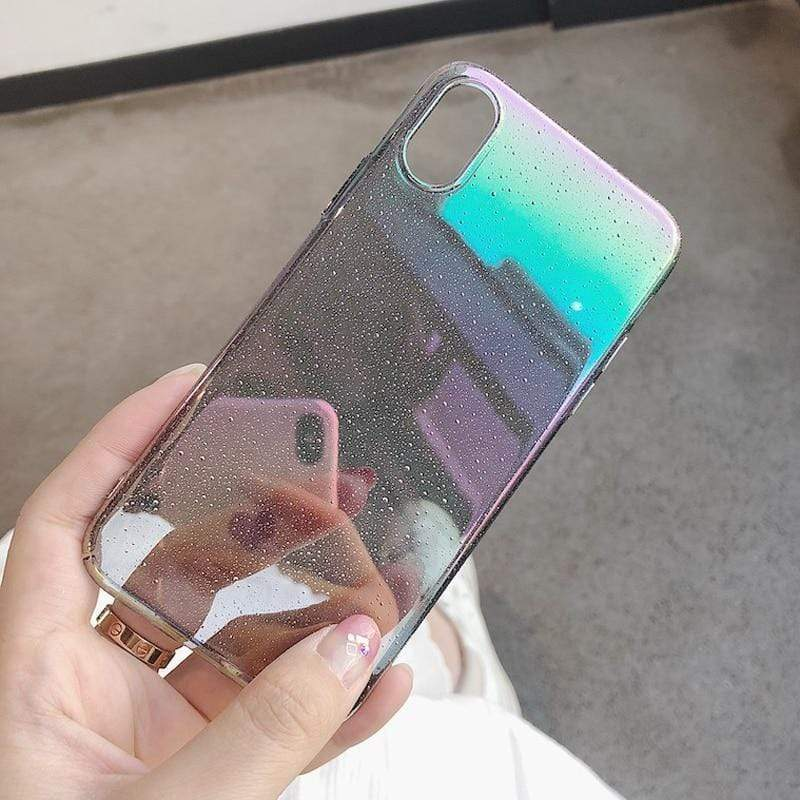 Glitter Gradient Rainbow Case - Jelly Cases