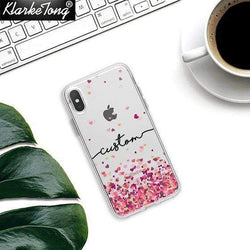 Glitter Hearts Custom Case - Jelly Cases