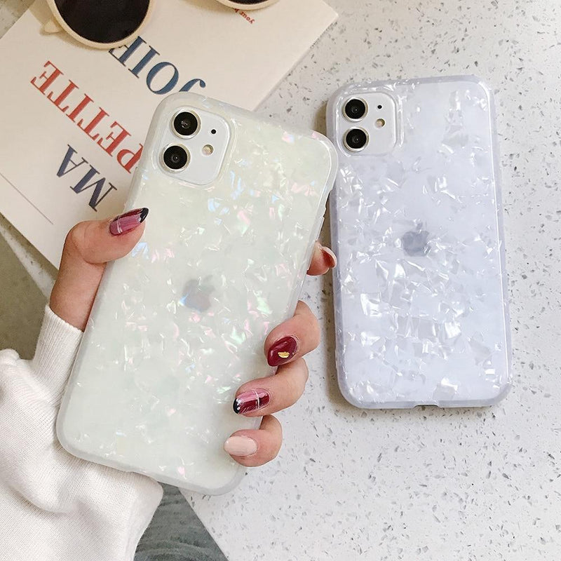 Glitter Shell Pattern Case - Jelly Cases