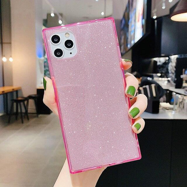 Glitter Square Case - Jelly Cases