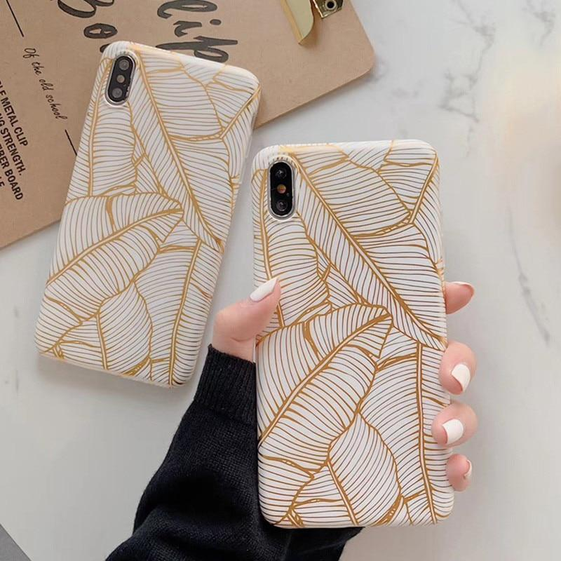 Gold Banana Leaf Case - Jelly Cases
