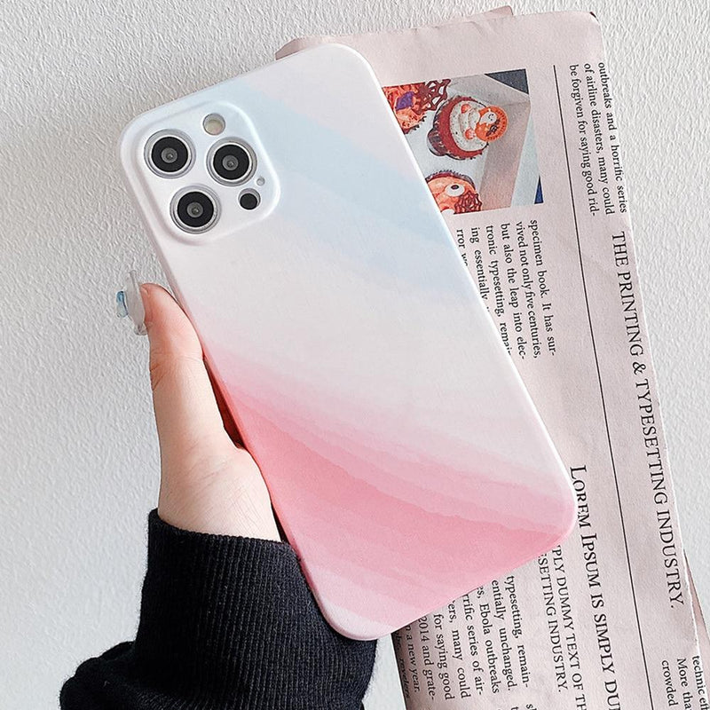Gradient Glitter Marble Case - Jelly Cases