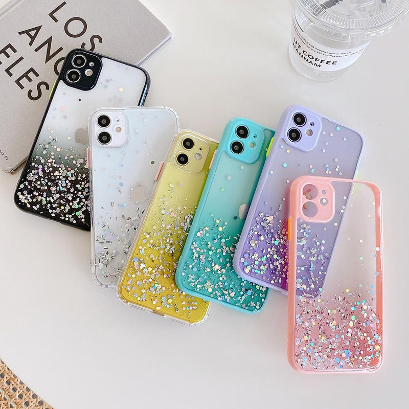 Gradient Glitter Sequins Case - Jelly Cases