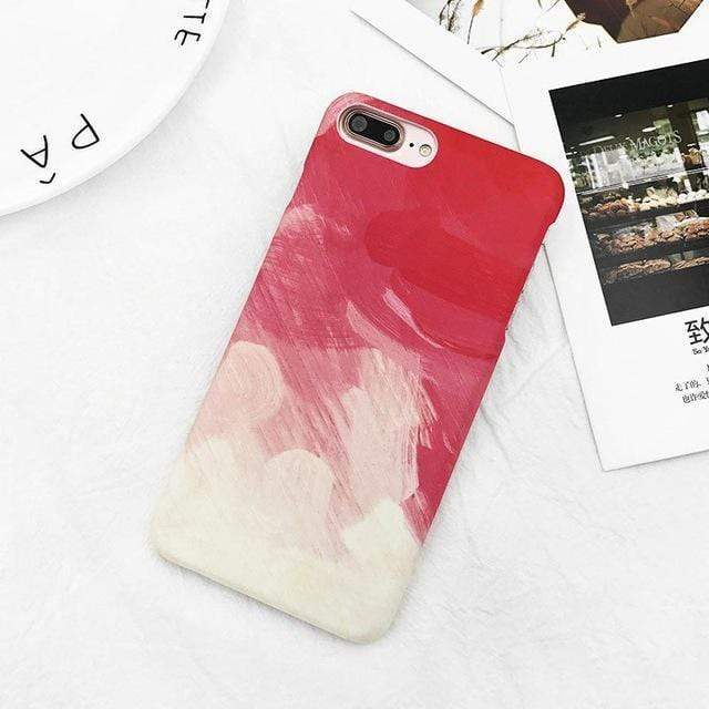 Gradient Graffiti Painted Case - Jelly Cases