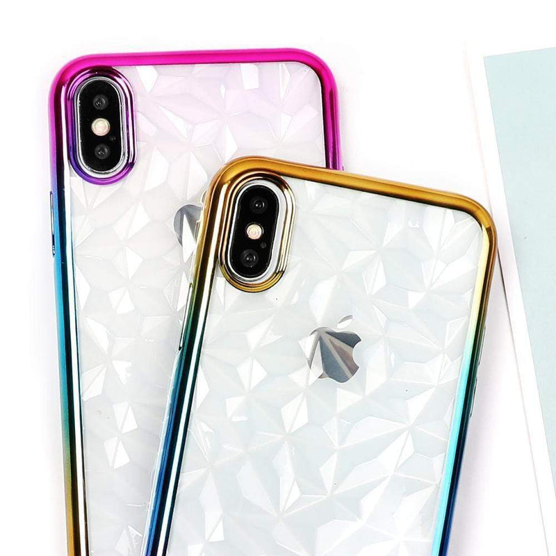 Gradient Lining Transparent Case - Jelly Cases