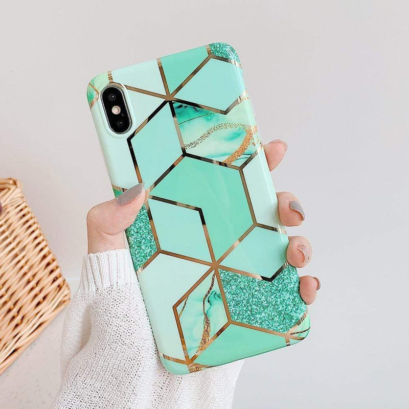 Green Marble Case - Jelly Cases
