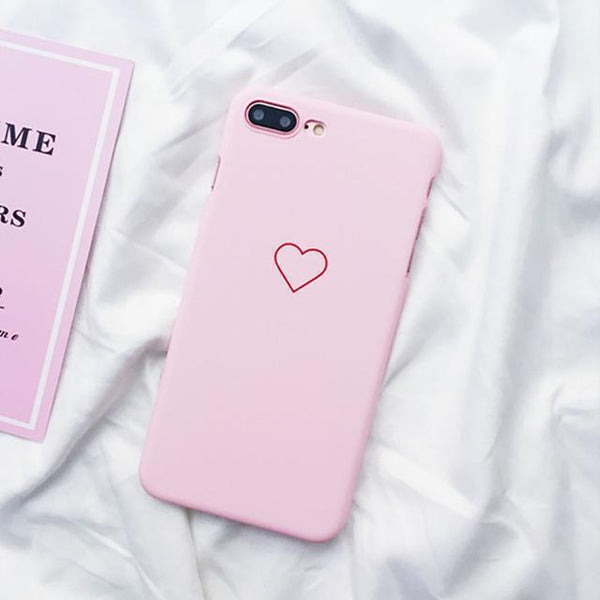 Heart Painted Case - Jelly Cases