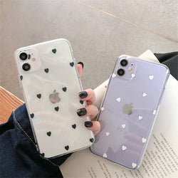 Heart Pattern Case - Jelly Cases