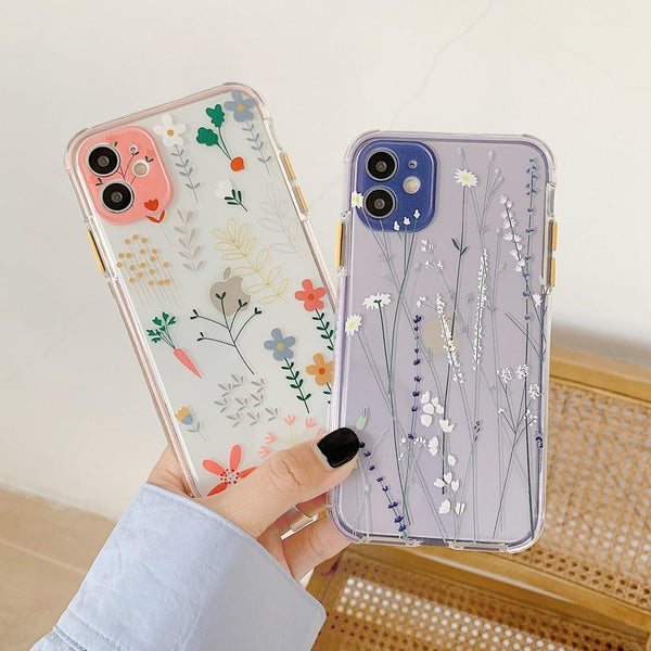 Korean Floral Case - Jelly Cases