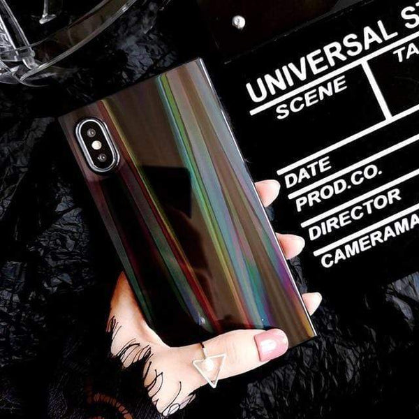 Laser Rainbow Square Case - Jelly Cases