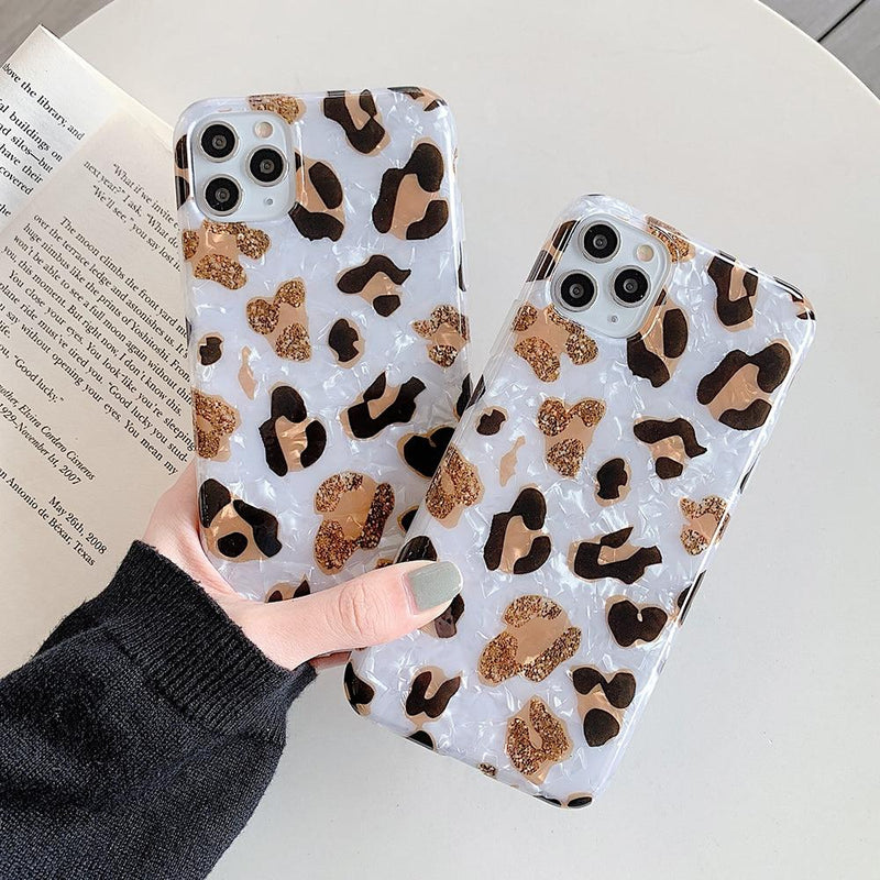 Leopard Print Dream Shell Case - Jelly Cases